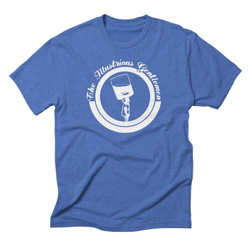 The Illustrious Gentlemen WhiskeyMic White Logo Men's Triblend T-Shirt by Super75studios's Artist Shop