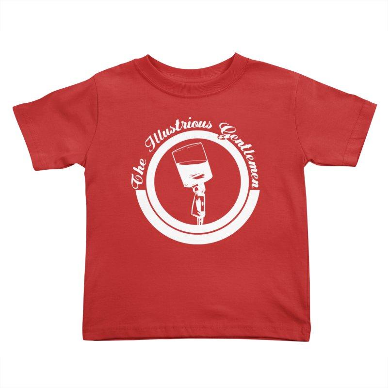 The Illustrious Gentlemen WhiskeyMic White Logo Kids Toddler T-Shirt by Super75studios's Artist Shop