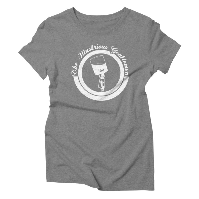 The Illustrious Gentlemen WhiskeyMic White Logo Women's Triblend T-Shirt by Super75studios's Artist Shop