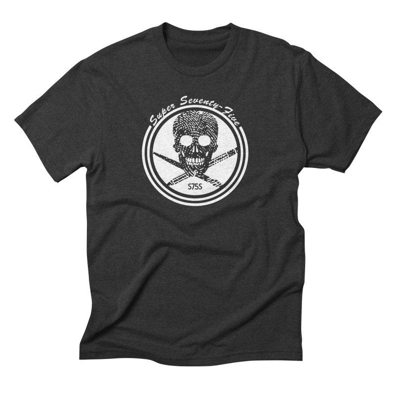 Super 75 Skull & Drawing Tools Men's Triblend T-Shirt by Super75studios's Artist Shop