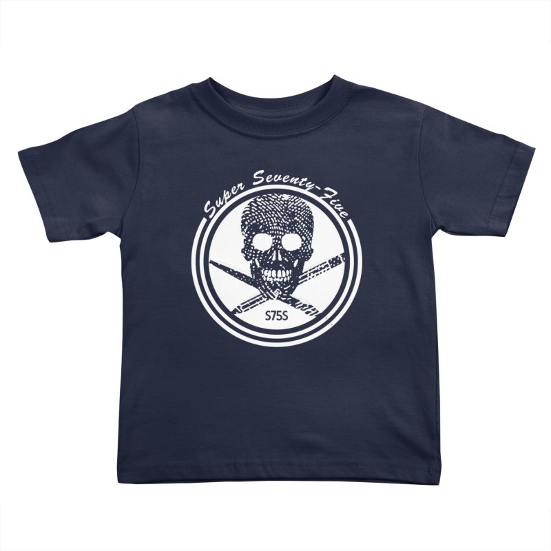 Super 75 Skull & Drawing Tools Kids Toddler T-Shirt by Super75studios's Artist Shop