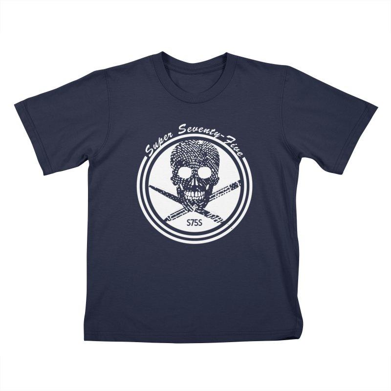 Super 75 Skull & Drawing Tools Kids T-Shirt by Super75studios's Artist Shop