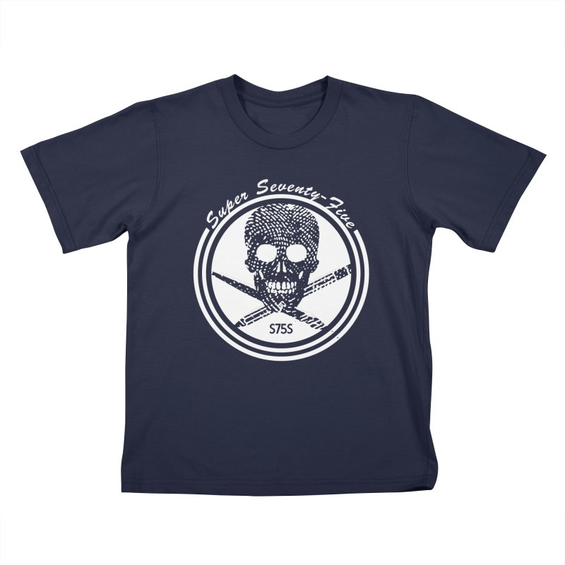Super 75 Skull & Drawing Tools Kids T-Shirt by Super75studios's Artist Shop