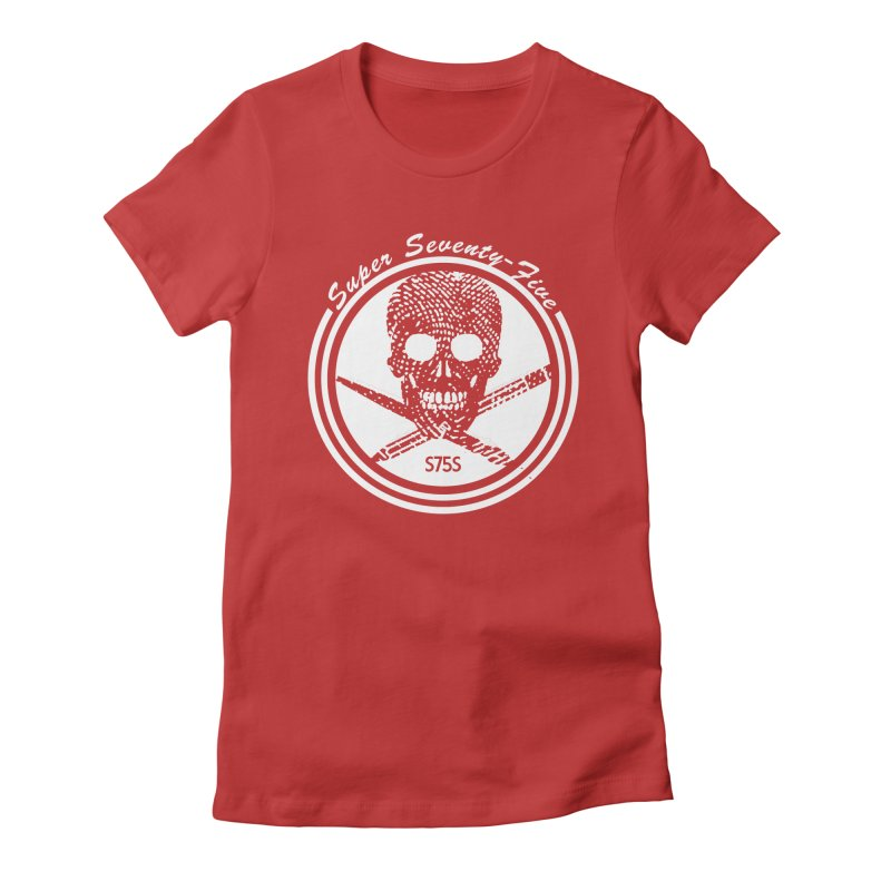 Super 75 Skull & Drawing Tools Women's Fitted T-Shirt by Super75studios's Artist Shop