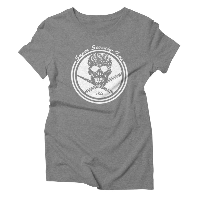 Super 75 Skull & Drawing Tools Women's Triblend T-Shirt by Super75studios's Artist Shop