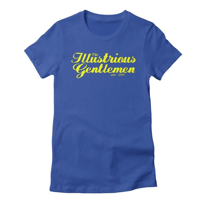 Yellow Cursive Logo Women's T-Shirt by Super75studios's Artist Shop