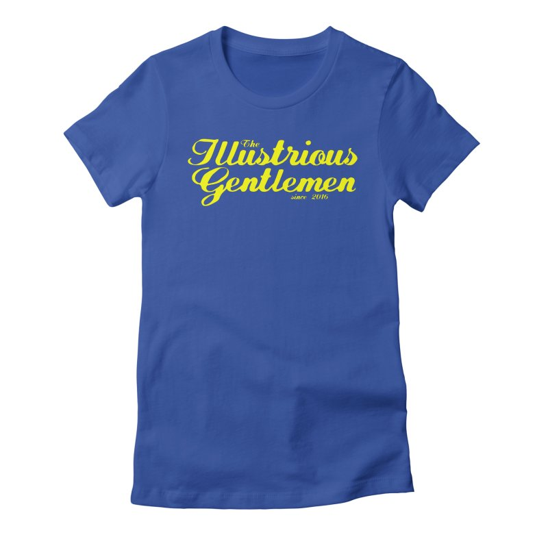Yellow Cursive Logo Women's Fitted T-Shirt by Super75studios's Artist Shop