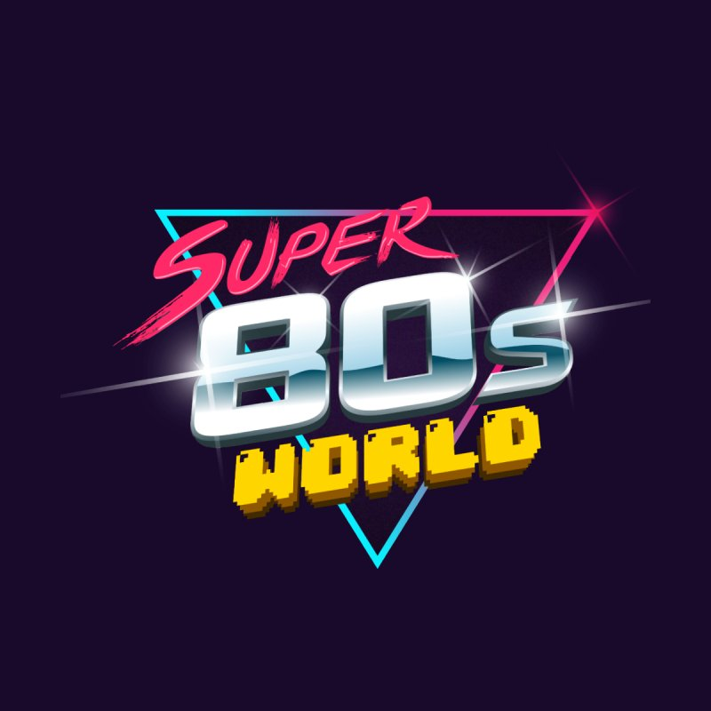 Super 80s World Men's Sweatshirt by Super80sWorld's Artist Shop