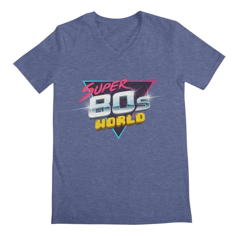 Super 80s World Men's V-Neck by Super80sWorld's Artist Shop
