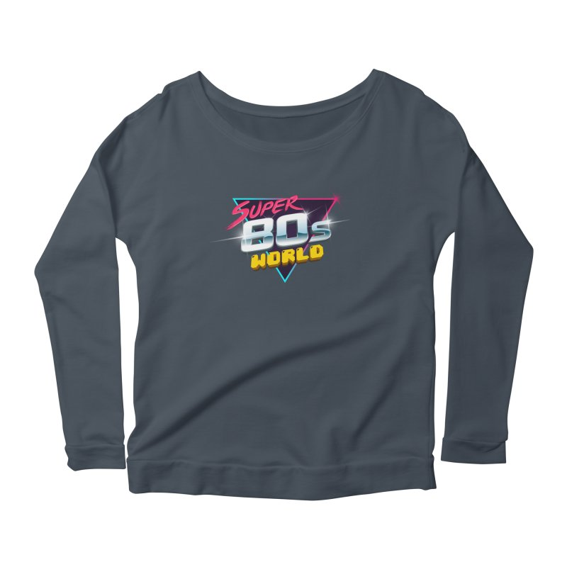 Super 80s World Women's Longsleeve Scoopneck  by Super80sWorld's Artist Shop