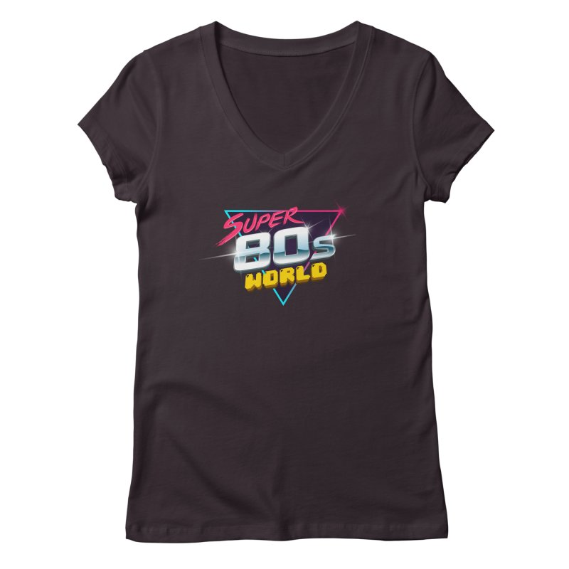 Super 80s World Women's V-Neck by Super80sWorld's Artist Shop