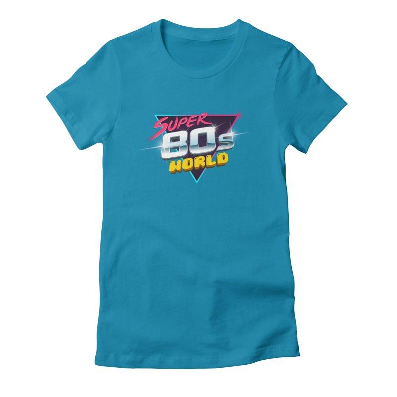 Super 80s World Women's Fitted T-Shirt by Super80sWorld's Artist Shop