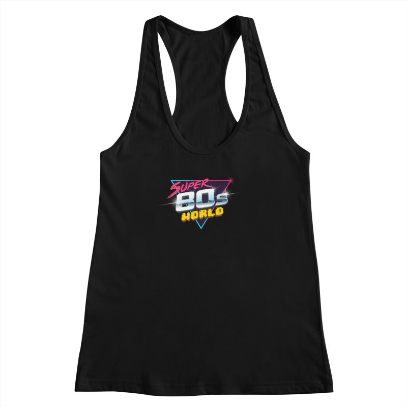Super 80s World Women's Racerback Tank by Super80sWorld's Artist Shop