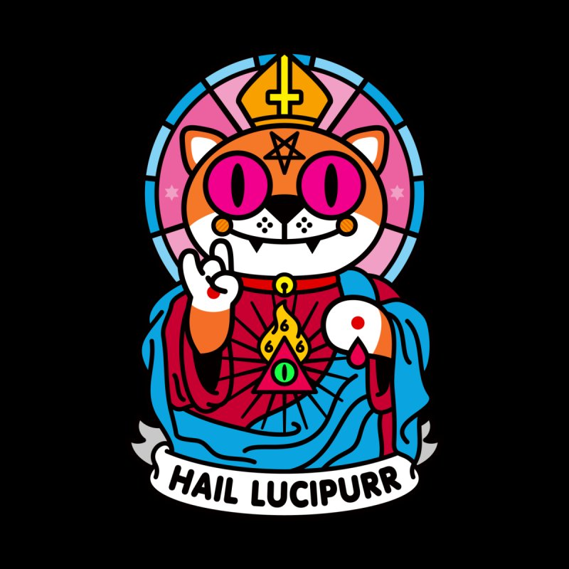 Hail Lucipurr Accessories Phone Case by SuperHappyMagic