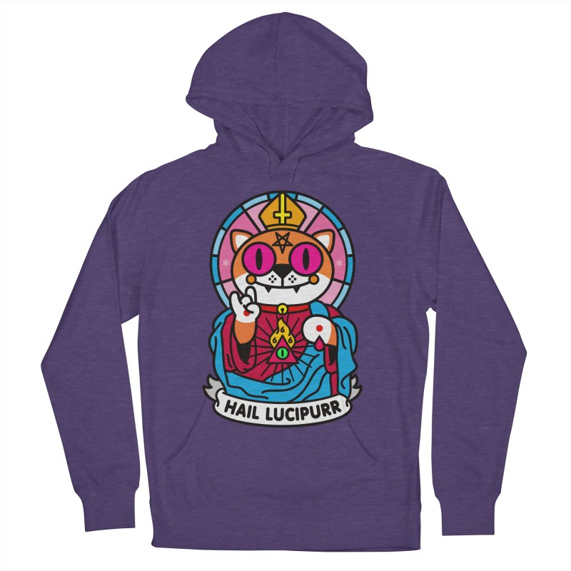 Hail Lucipurr Women's French Terry Pullover Hoody by SuperHappyMagic