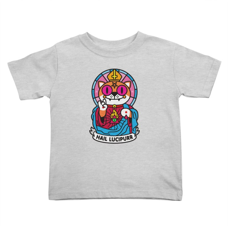 Hail Lucipurr Kids Toddler T-Shirt by SuperHappyMagic