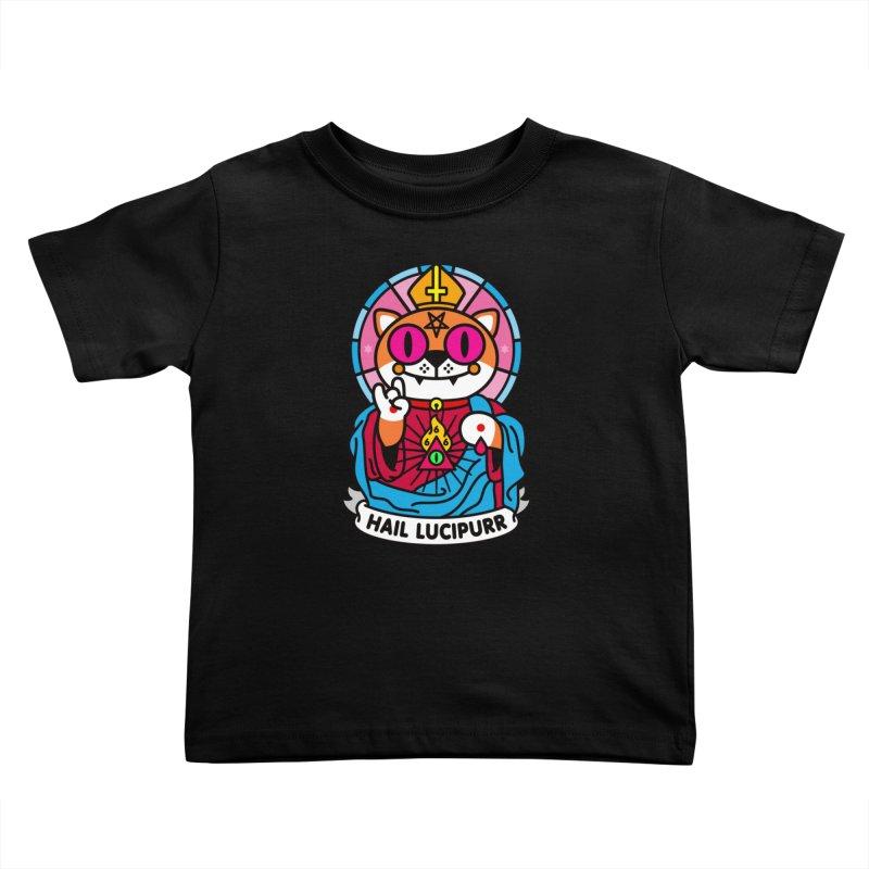 Hail Lucipurr Kids Toddler T-Shirt by SuperHappyMagic