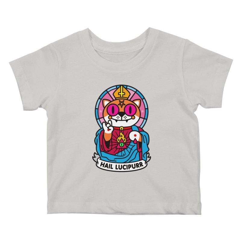 Hail Lucipurr Kids Baby T-Shirt by SuperHappyMagic