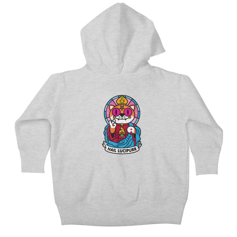 Hail Lucipurr Kids Baby Zip-Up Hoody by SuperHappyMagic