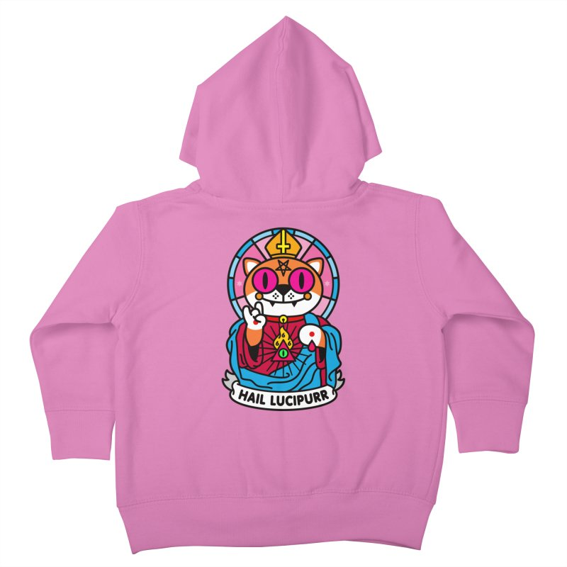 Hail Lucipurr Kids Toddler Zip-Up Hoody by SuperHappyMagic