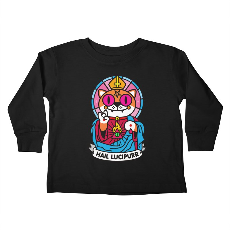 Hail Lucipurr Kids Toddler Longsleeve T-Shirt by SuperHappyMagic