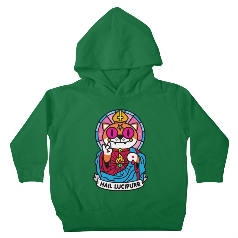 Hail Lucipurr Kids Toddler Pullover Hoody by SuperHappyMagic