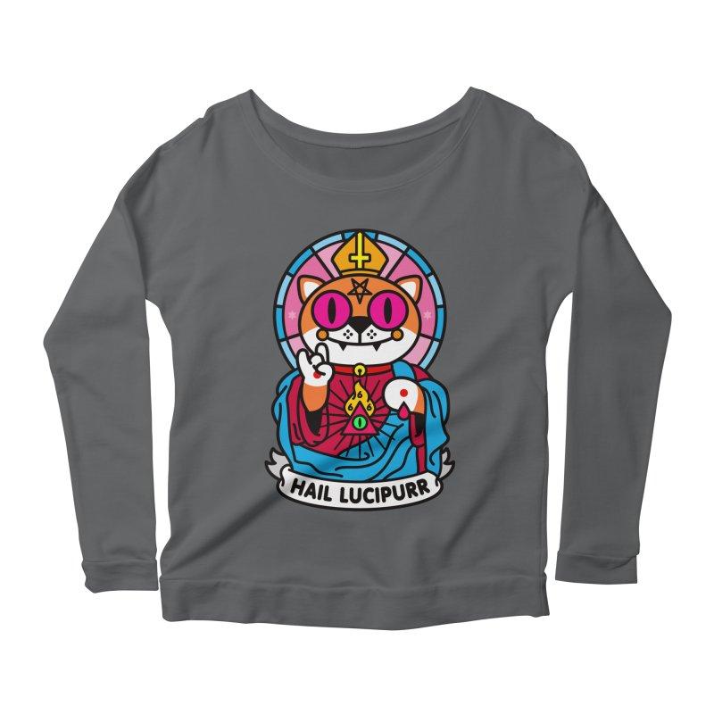 Hail Lucipurr Women's Scoop Neck Longsleeve T-Shirt by StudioDelme