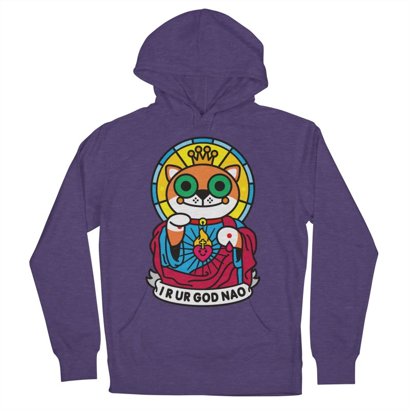 Jeezus Cat Women's French Terry Pullover Hoody by StudioDelme