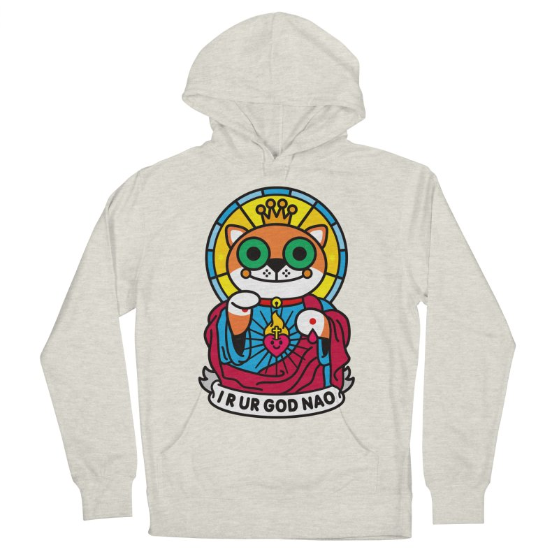 Jeezus Cat Women's French Terry Pullover Hoody by SuperHappyMagic