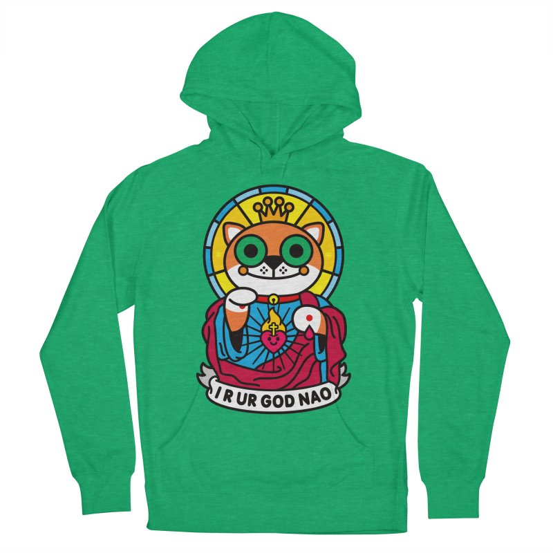 Jeezus Cat Men's French Terry Pullover Hoody by StudioDelme