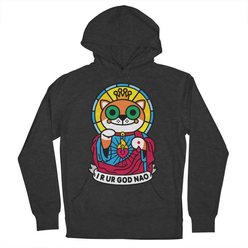 Jeezus Cat Men's French Terry Pullover Hoody by SuperHappyMagic