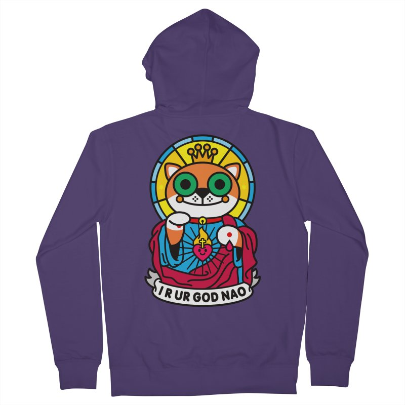 Jeezus Cat Women's Zip-Up Hoody by SuperHappyMagic