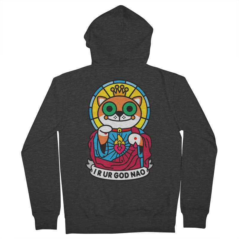Jeezus Cat Men's French Terry Zip-Up Hoody by StudioDelme