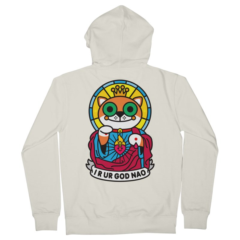 Jeezus Cat Men's French Terry Zip-Up Hoody by SuperHappyMagic