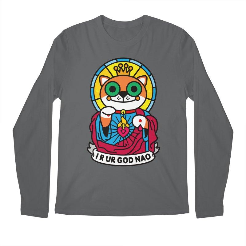 Jeezus Cat Men's Longsleeve T-Shirt by SuperHappyMagic