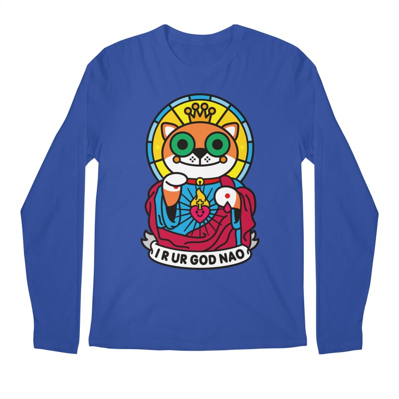 Jeezus Cat Men's Regular Longsleeve T-Shirt by SuperHappyMagic