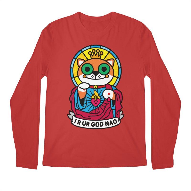 Jeezus Cat Men's Regular Longsleeve T-Shirt by SuperHappyMagic