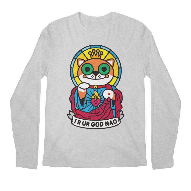 Jeezus Cat Men's Regular Longsleeve T-Shirt by StudioDelme