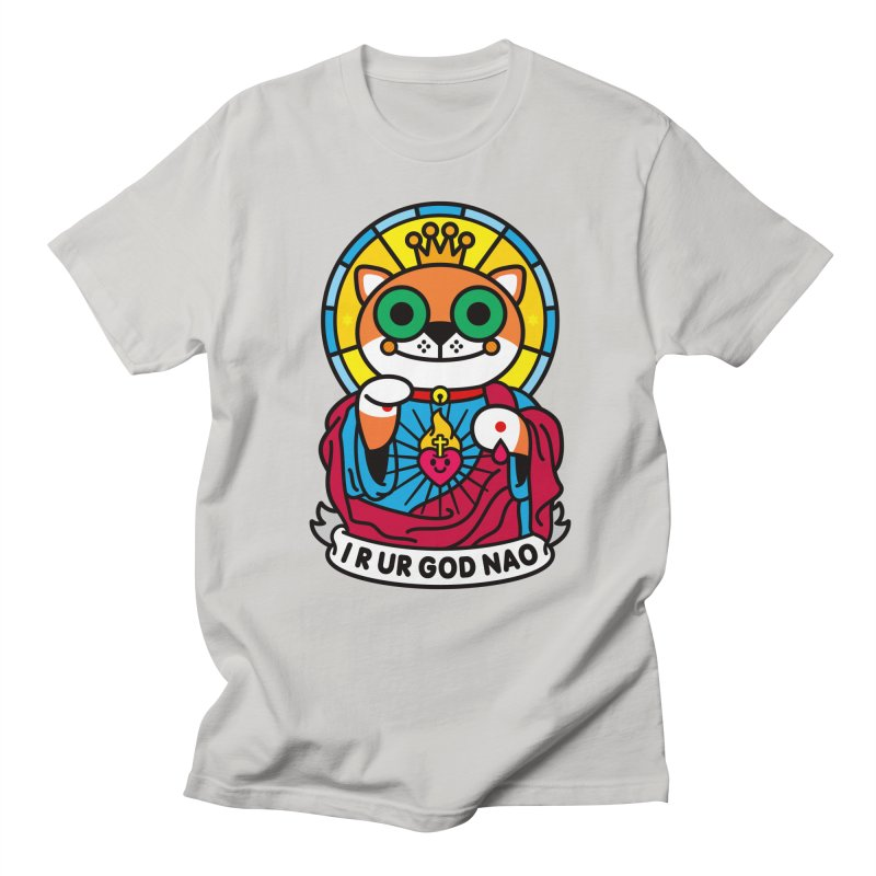 Jeezus Cat Men's Regular T-Shirt by SuperHappyMagic