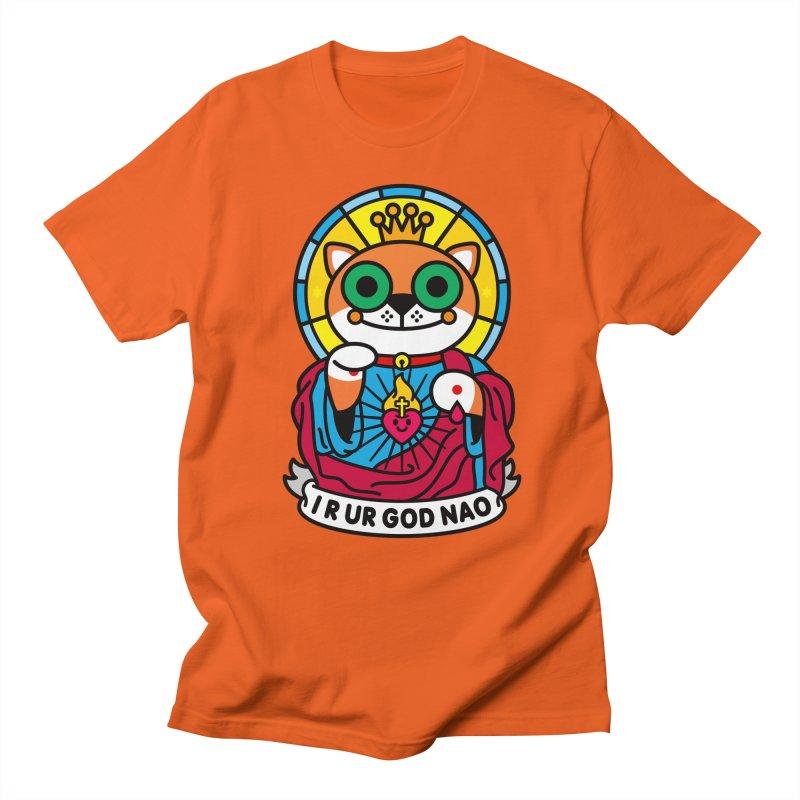 Jeezus Cat Men's T-shirt by SuperHappyMagic