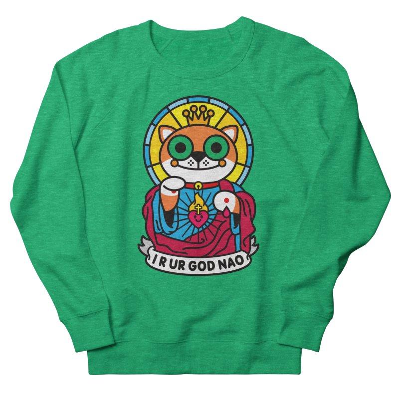 Jeezus Cat Women's French Terry Sweatshirt by SuperHappyMagic