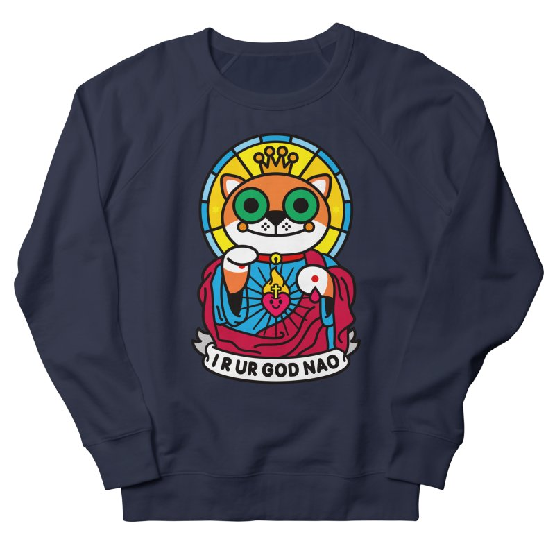 Jeezus Cat Women's French Terry Sweatshirt by StudioDelme