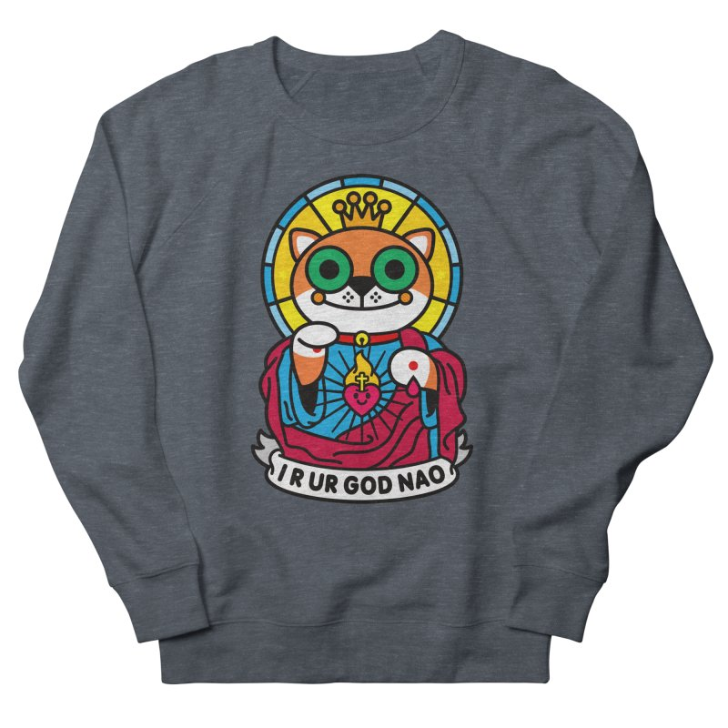 Jeezus Cat Men's French Terry Sweatshirt by StudioDelme