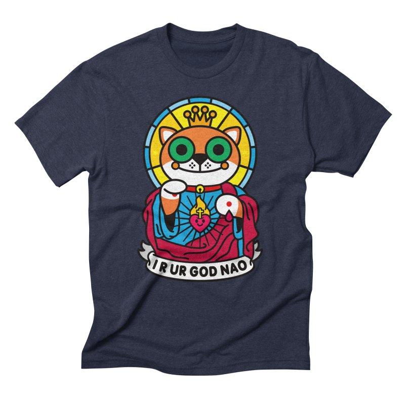 Jeezus Cat Men's Triblend T-Shirt by SuperHappyMagic
