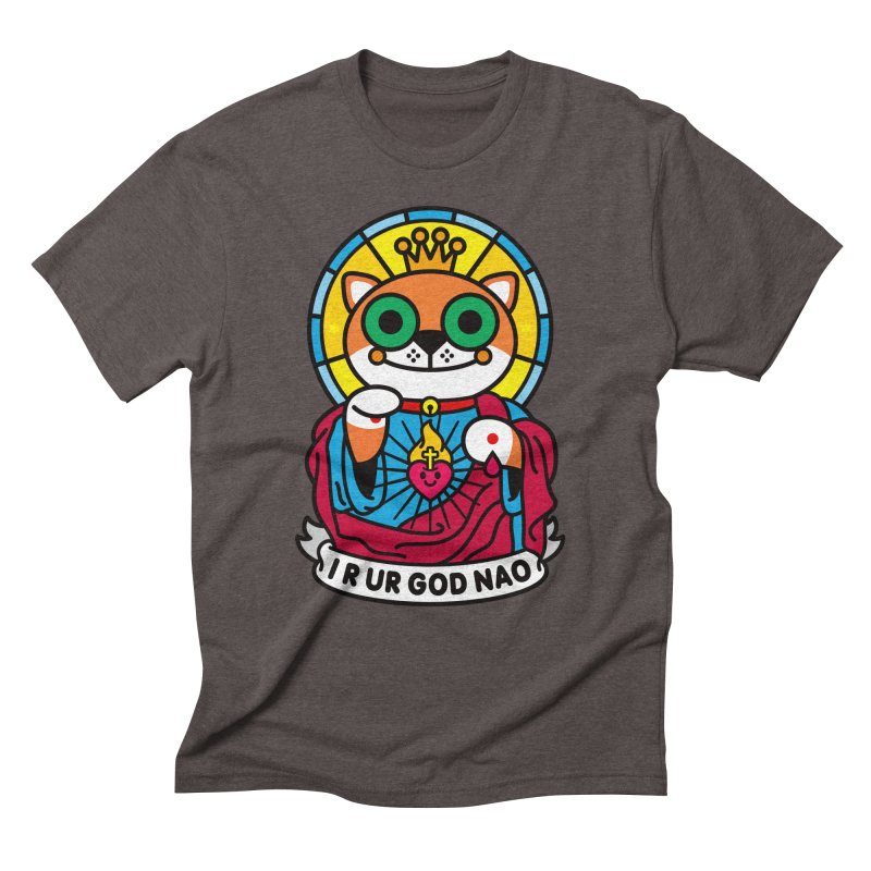 Jeezus Cat Men's Triblend T-Shirt by StudioDelme