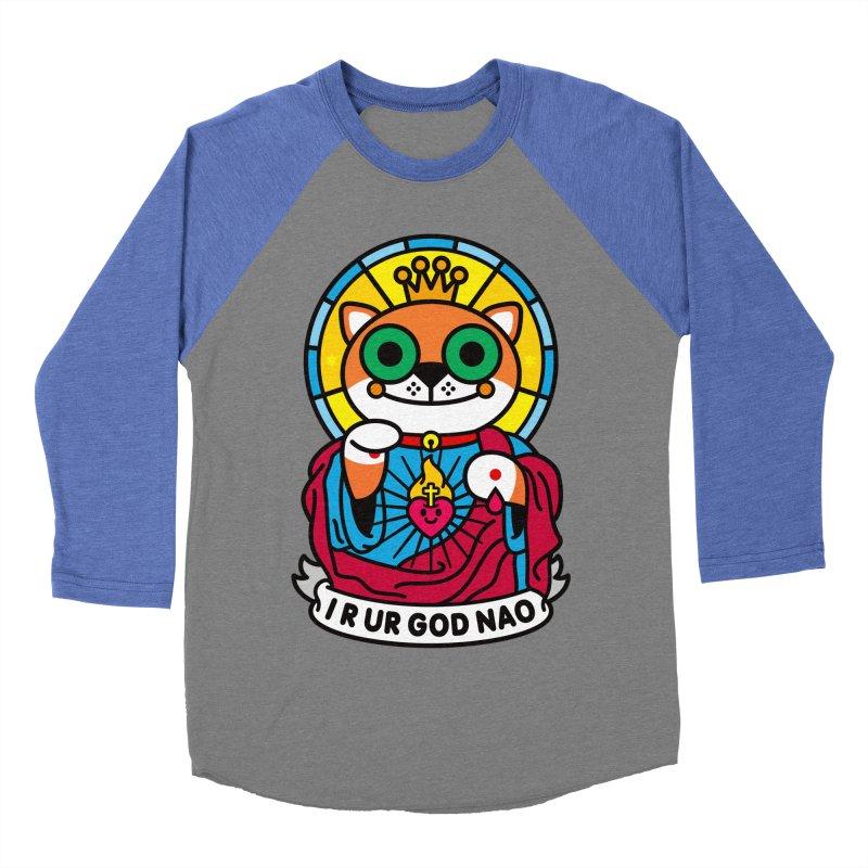 Jeezus Cat Women's Baseball Triblend Longsleeve T-Shirt by StudioDelme