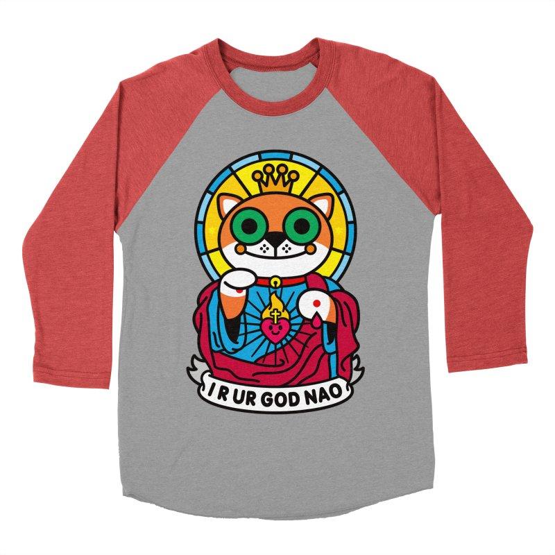 Jeezus Cat Women's Baseball Triblend Longsleeve T-Shirt by SuperHappyMagic