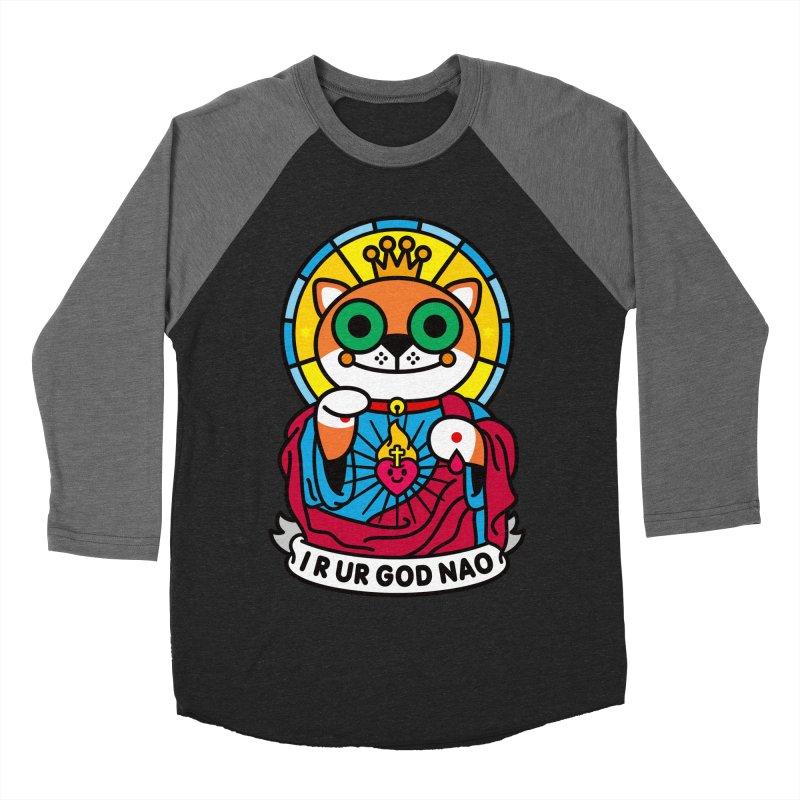 Jeezus Cat Men's Baseball Triblend Longsleeve T-Shirt by SuperHappyMagic