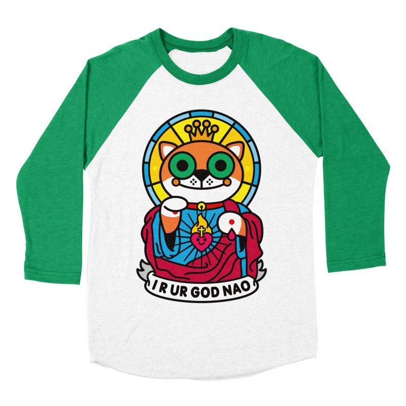 Jeezus Cat Men's Baseball Triblend T-Shirt by SuperHappyMagic