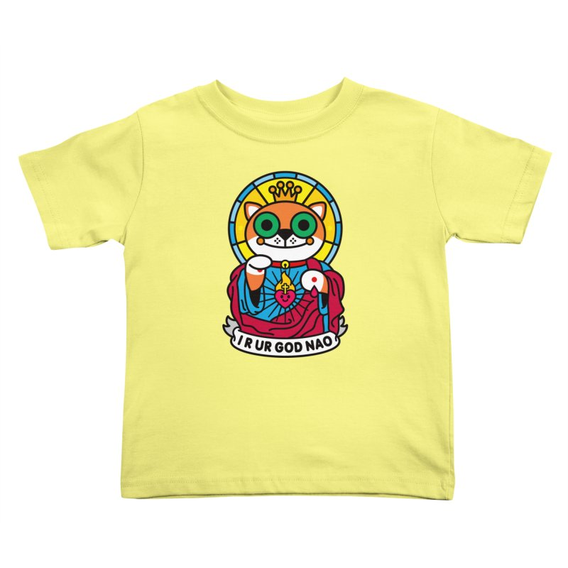 Jeezus Cat Kids Toddler T-Shirt by SuperHappyMagic
